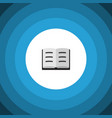 isolated book flat icon lecture elemen vector image