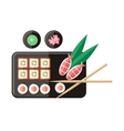 Japanese Food in Flat Style vector image