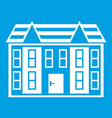 large two-storey house icon white vector image vector image