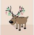 Merry Christmas funny reindeer vector image vector image