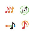 music logo icon vector image vector image