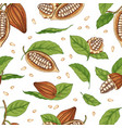 natural seamless pattern with pods or fruits of vector image