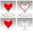origami heart red and white color vector image vector image