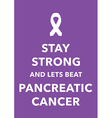 pancreatic cancer poster vector image vector image