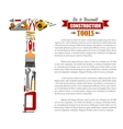 Poster of repair tools and construction items vector image vector image