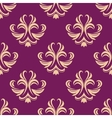 Purple and beige seamless floral pattern vector image