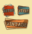 retro vintage badges vector image