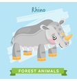 Rhino forest animals vector image vector image