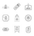 Sale icons set outline style vector image vector image