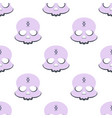 seamless pattern with mystical skull on white vector image