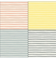 Seamless patterns set with painted stripes vector image vector image
