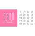 set anniversary logotype modern anniversary vector image vector image