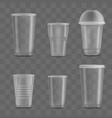 set empty and blank transparent disposable vector image