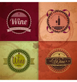 Set of wine vintage labels vector image vector image