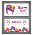 set two templates gift cards with color vector image vector image