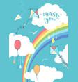 sky thank you card vector image vector image