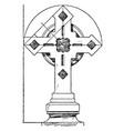 steeple cross building vintage engraving vector image vector image