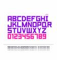 strict font vector image