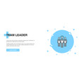 team leader icon banner outline template concept vector image