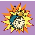 The alarm clock rings time vector image vector image