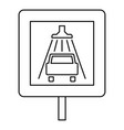 traffic sign car wash icon outline style vector image vector image