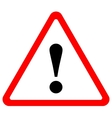 triangular warning sign vector image