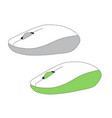 two pc computer mouse simple flat style icon vector image