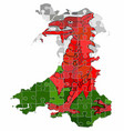 wales map made of puzzle background vector image
