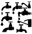 Water Taps and Drops vector image