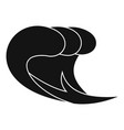 wave surf icon simple black style vector image vector image