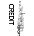 your credit can be your life text word cloud vector image vector image
