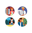 professions set icons vector image