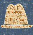 Happy Fathers Day hand drawn card with hat vector image