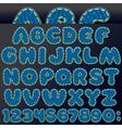 Denim Patch Font vector image