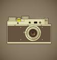 Vintage photo camera vector image
