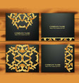 business card set with luxurious ornament vector image