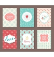 Romantic vintage cards collection vector image