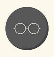 sunglasses round linear icon with the vector image
