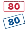 80 Rubber Stamps vector image vector image