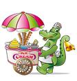 alligator ice cream vector image vector image