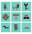 Assembly flat icons pets and accessories