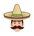 avatar mexican man cartoon vector image vector image