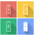 battery - icon vector image