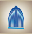 bird cage sign sky blue icon with vector image vector image