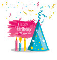 birthday hat with candles of party vector image vector image