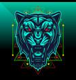 black panther sport mascot logo design vector image vector image