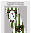 Bunting design - Tree from Wonderland vector image vector image