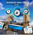 business analytics infograph template with vector image vector image