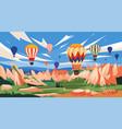 cappadocia landscape turkey vector image vector image