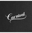 Carnival retro label vector image vector image